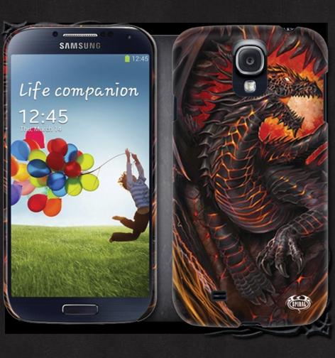 Kryt na mobil SAMSUNG GS4/GS3 DRAGON FURNACE LG179575 - DOPRODEJ Velikost: GS4