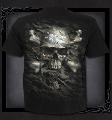 b9626aed4e53 ... Metalové tričko Spiral Upíří lebka CAMO-SKULL TR417600 ...