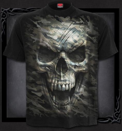 2f58f35c266b Metalové tričko Spiral Upíří lebka CAMO-SKULL TR417600 ...